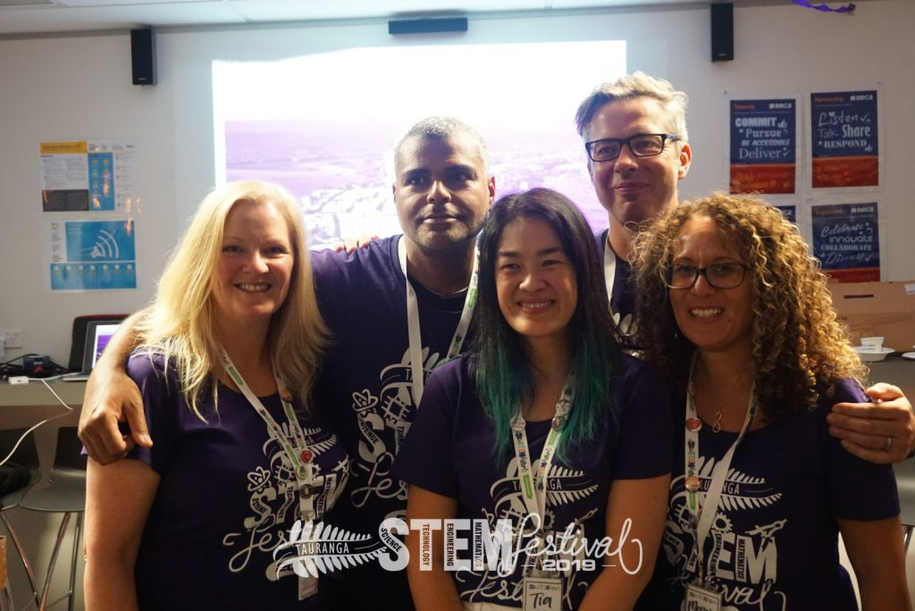 #Team STEMFest - Debs, Kurt, Tia, Mike, and Marie (left to right)